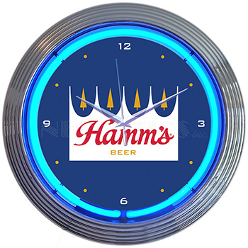 Hamms Beer Neon Clock