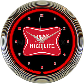 Miller High Life Beer Neon Clock