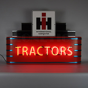 Art Deco Marquee Ih Tractors Neon Sign In Steel Can