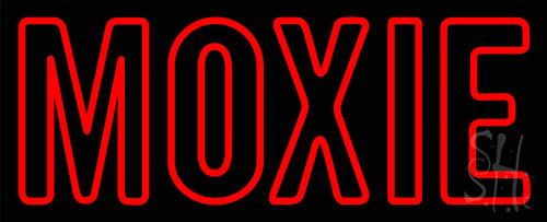 Red Moxie Neon Sign