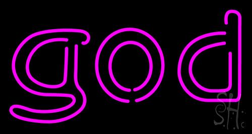 Pink God Neon Sign