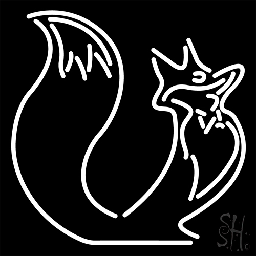 White Fox Logo Neon Sign