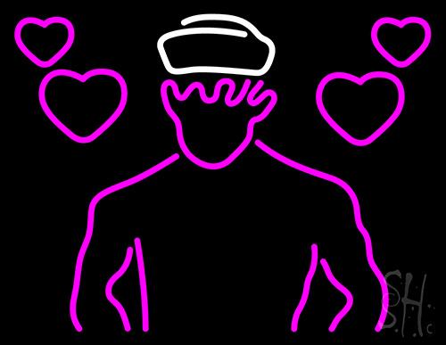 Singing Sailor Logo Neon Sign