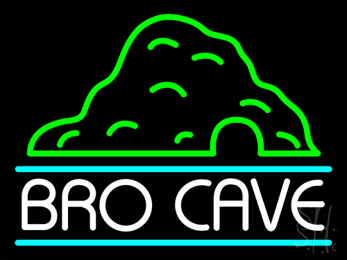 Bro Cave Neon Sign