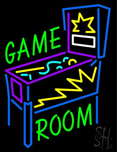Game Room Pinball Machine Neon Sign
