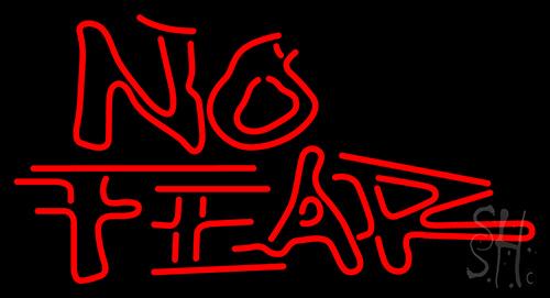 No Fear Logo Neon Sign
