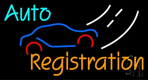 Auto Registration Neon Sign