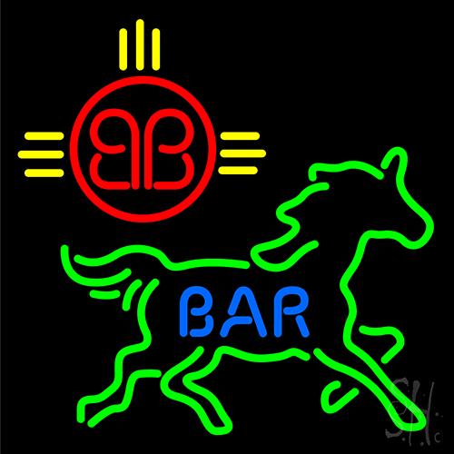 Bar Horse Logo Neon Sign