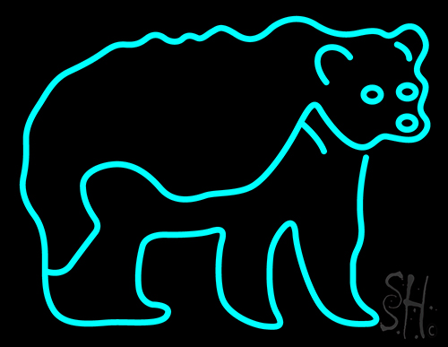 Bear New Animals Neon Sign