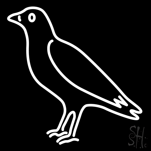 Crow Neon Sign