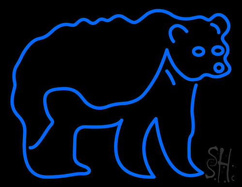 Grizzly Bear Neon Sign