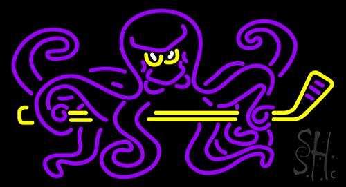 Octopus Hockey Neon Sign