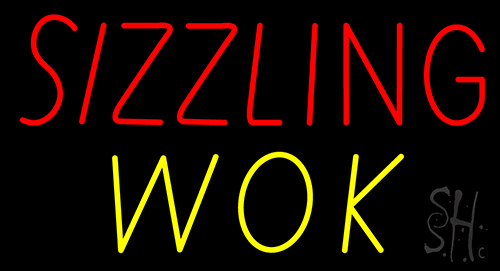 Sizzling Wok Neon Sign