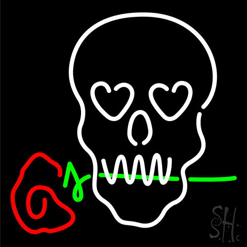 Skull With Rose Neon Sign Flower Neon Signs Every Thing Neon