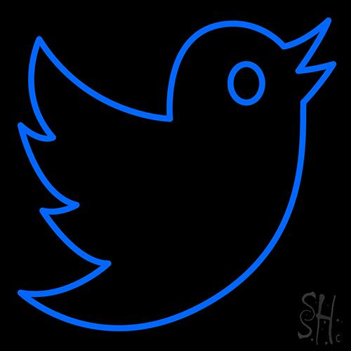 Twitter Bird Logo Neon Sign
