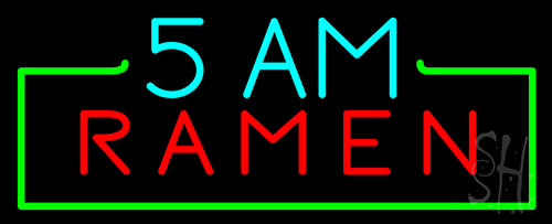 5 Am Ramen Neon Flex Sign