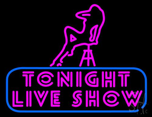 Peintures de l'atelier des dingues ! N105-19451-tonight-live-show-neon-sign