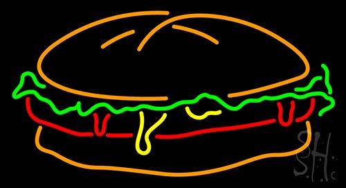 Burger Neon Sign