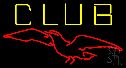 Club Revens Bird Neon Sign