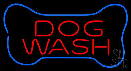 Dog Wash With Bone Neon Sign