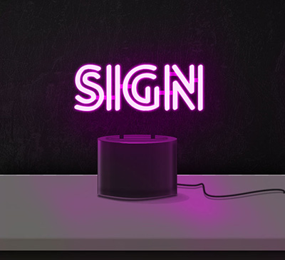 Custom Desktop Neon Sign
