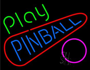 Play Pinball Neon Sign