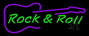 Rock N Roll Guitar Neon Sign