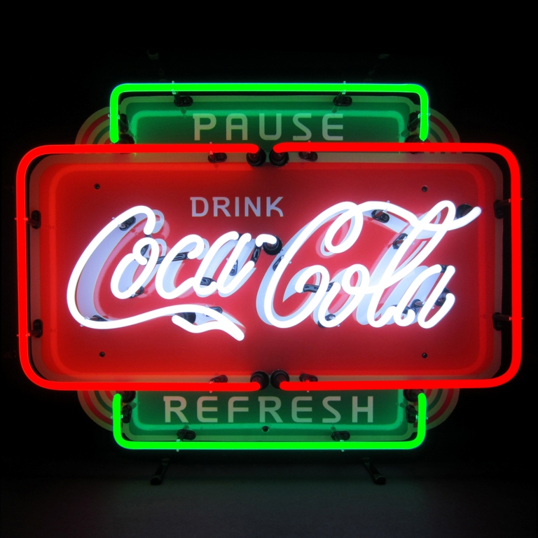 Coca-cola Pause Refresh Neon Sign