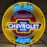 Chevrolet Neon Sign with Silkscreen Backing