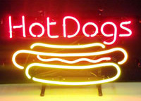 Hot Dog Neon Sign