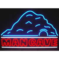 Man Cave W/cave Neon Sign