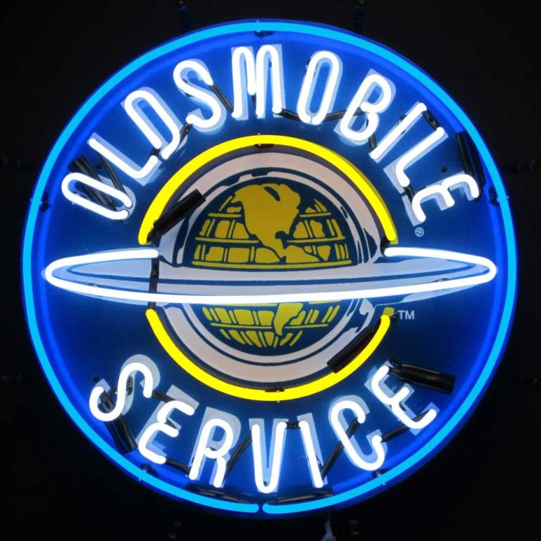 Oldsmobile Service Neon Sign
