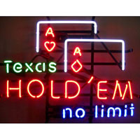 Texas Hold Em Neon Sign
