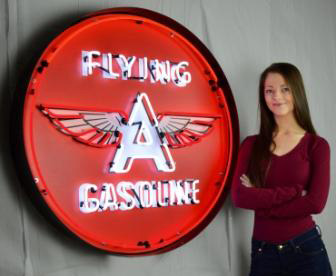 Large Flying a Gasoline Neon Sign in Crate