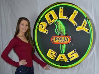 Large Polly Gas Neon Sign in Crate