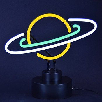 Saturn Neon Sculpture