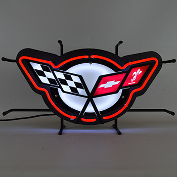 Corvette C5 Neon Sign With Backing