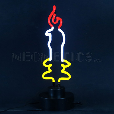 Candle Neon Sculpture