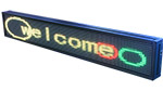 Indoor Programmable LED Sign 24 Inches L X 4 Feet W