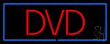 Red DVD Blue Border LED Neon Sign