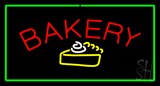 Bakery Logo Rectangle Green Neon Sign
