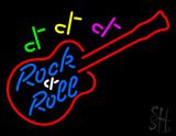 Rock and Roll Guitar LED Neon Sign