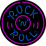 Rock and Roll Record Neon Sign
