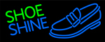 Blue Shoe Shine Neon Sign 2