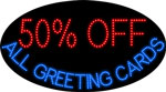 Custom 50 Off All Greeting Cards Led Sign 1