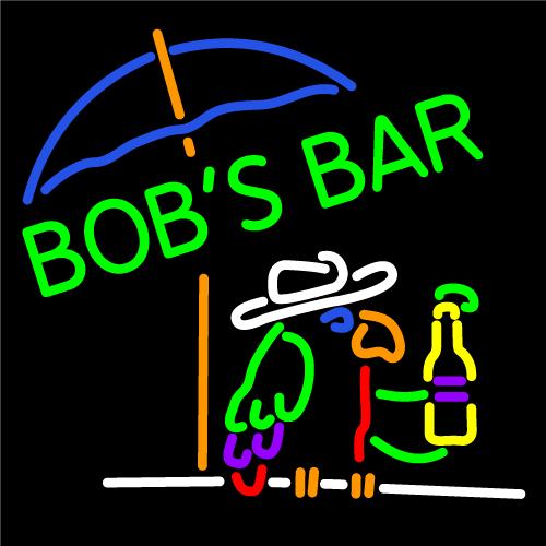 Custom Bobs Bar Neon Sign 3