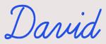Custom David Neon Sign 1