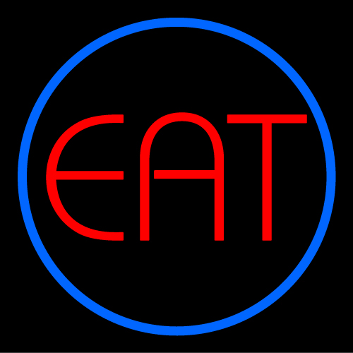Custom Eat Oval Neon Neon Sign 3