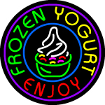 Custom Frozen Yogurt Enjoy Neon Sign 3