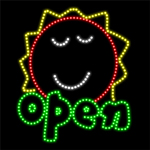 Custom Open Sun Logo Led Sign 3